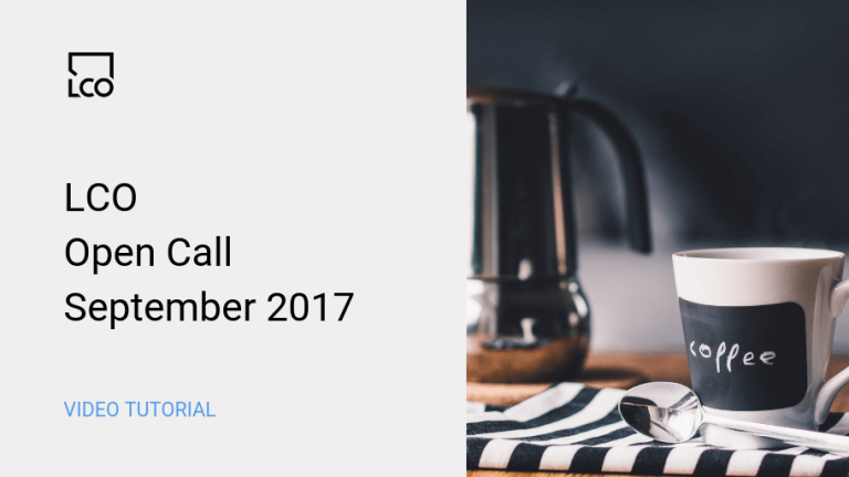 LCO Open Call Sept 2017