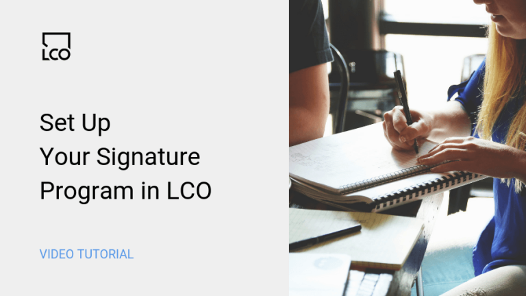 How to set up your Signature Program