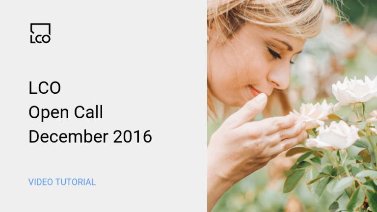 LCO Open Call December 2016