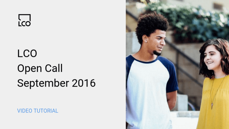 LCO Open Call Sept 2016