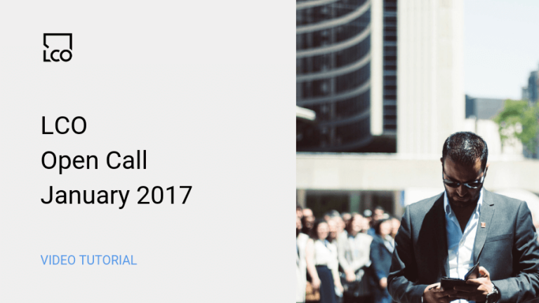 LCO Open Call January 2017