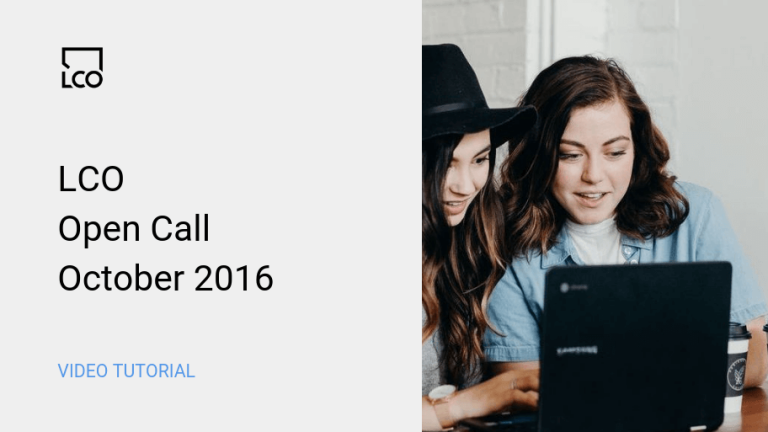 LCO Open Call Oct 2016