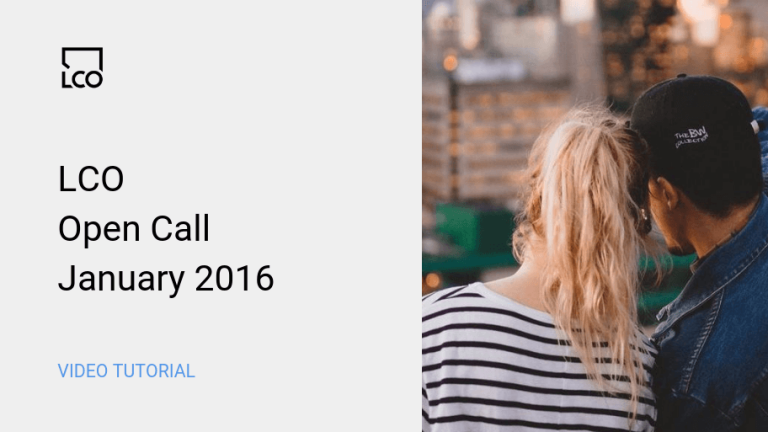LCO Open Call Jan 2016