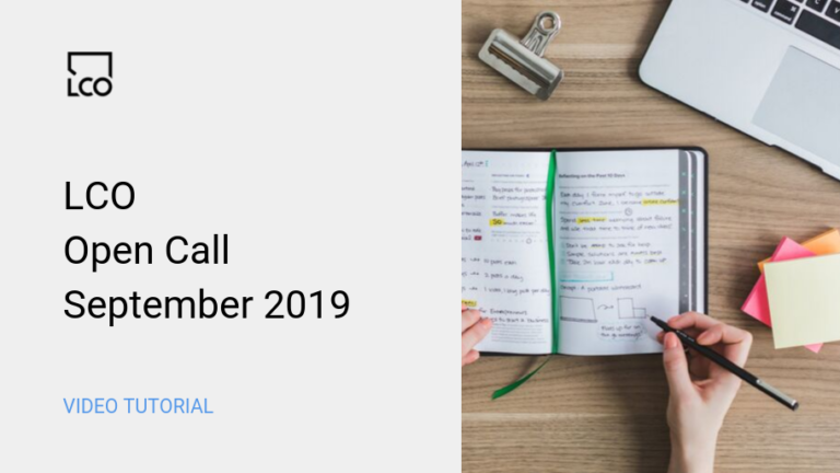 LCO Open Call Sept 2019
